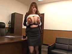 Manager tinkering with admin massive boobs