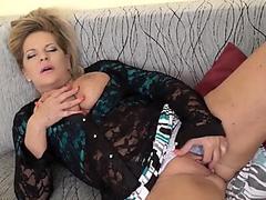 Blonde Bombshell Caroline Zalog Strips For You