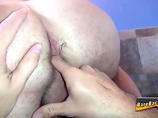 Gay hunk rimming butthole