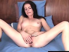 Brunette Chloe Fingering Her Pussy