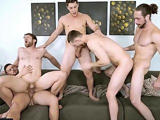 Men.com - (Colby Keller, Jacob Peterson, Paul Canon, Roman Cage, Trevor Long) - My Whore Of A Roommate - Jizz Orgy