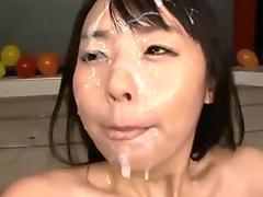 Hot babe Kina Kai takes a big rubber cock on her wet pussy
