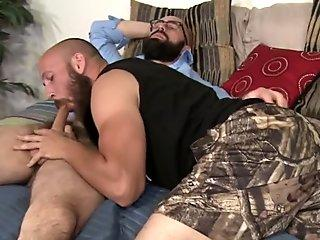 Horny gay bear riding
