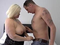 Sultry mistress Johane Johansson takes a hot cock in her juicy mouth