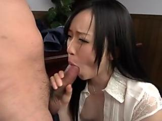 Asian amazes mate with raunchy cowgirl riding