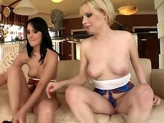 Sandra Black And Lolly Blonde Share Two Cocks