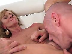 Free Puma Swede happy for the cum load on face