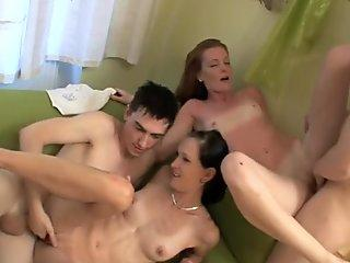 TEENAGE GIRL'S TIGHT PUSSY MAKES NERVOUS BOY CUM TOO FAST - Full Length