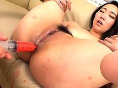 JAVHUB Sanae Momomi Takes On Two Dicks At Once