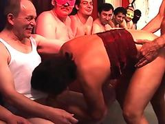 Granny nailed in orgy